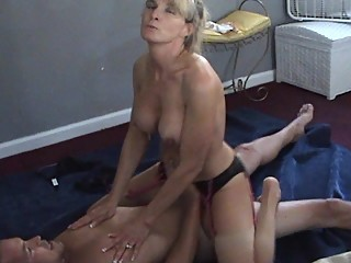 Wife talks dirty while cuckold husband..