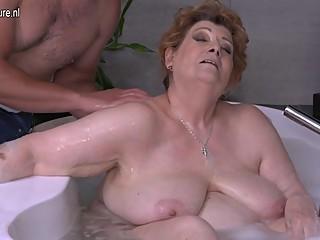 Redhead titty fucked