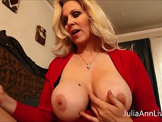 Busty Milf Julia Ann Teases Stepson with..